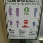 Modesty Sign